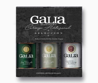 Pack X 3 Botellas De Cerveza Artesanal Galia Brewing Co.