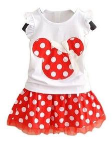Lindo Conjunto Minnie - Saia - Vermelho