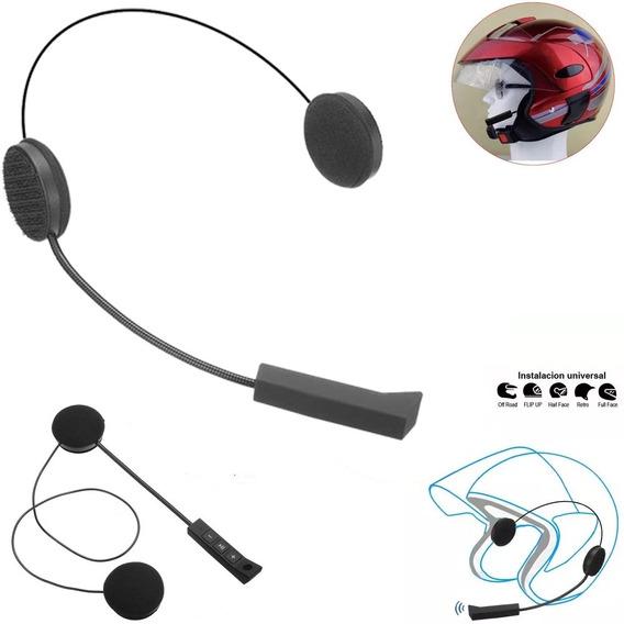 Fone Ouvido C/ Microfone Capacete Moto Bluetooth Sem Fio Voz
