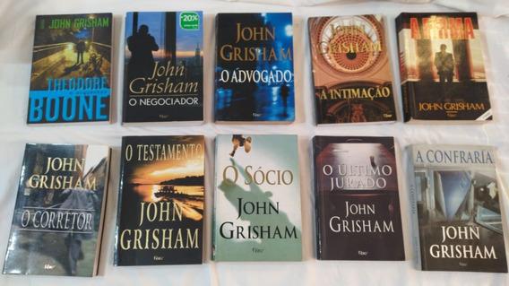 Livro John Grisham Lote Com 10 Títulos Conforme Fotos