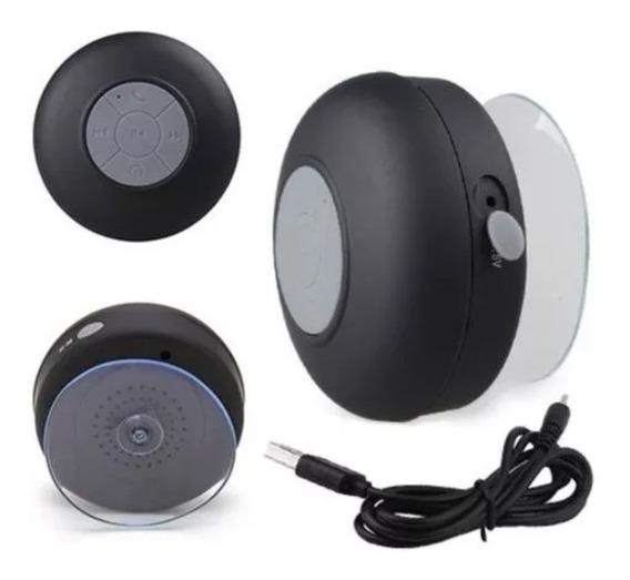 Mini Caixa Som Bluetooth Portátil Prova Água Ventosa