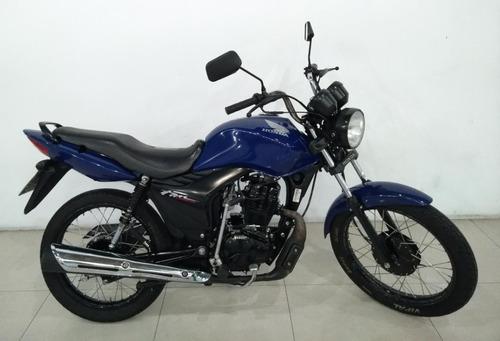 Moto Honda Cg Fan Ks Azul