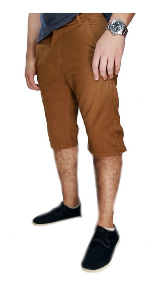 Bermudas Sarja Masculina Slim Com Lycra