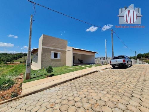 Imagem 1 de 12 de Linda Casa De Campo Com Escritura, Em Loteamento Fechado, 3 Dormitórios, Piscina, À Venda, 450 M² Por R$ 480.000,00 - Rural - Monte Alegre Do Sul/sp - Ch0862