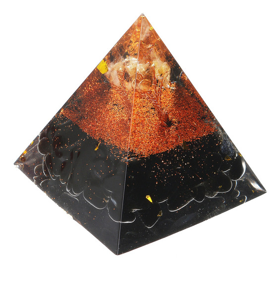 Himalaias Obsidiana Cristal De Cura De Laranja Reiki Orgonit