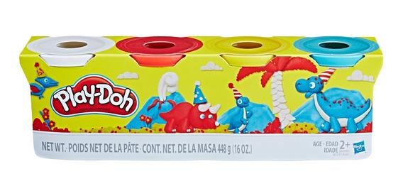 Play Doh Pack De 4 Potes De Masa