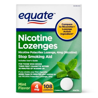 Pastillas Nicorette Generico Nicotina 4mg Menta 108ct