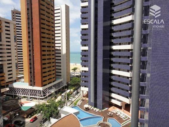 Apartamento Para Locação, Meireles, 2 Quartos, Beach Class, Com Internet / Tv A Cabo - Ap0996