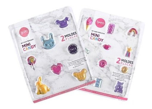 Set De 2 Moldes Placas Mini Candy Parpen