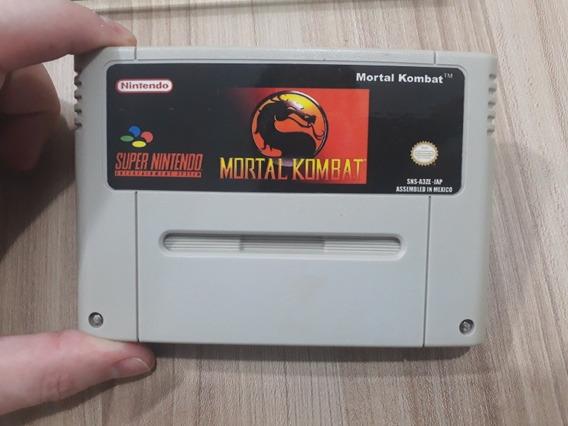 Mortal Kombat Snes Cartucho De Super Nintendo