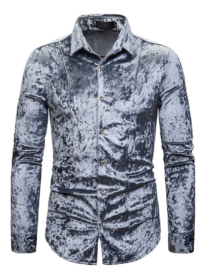 Camiseta De Manga Larga Casual Slim Fit Para Hombre