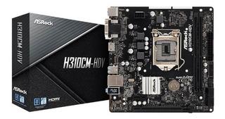 Mother Asrock H310cm-hdv Para Cpu Intel De 8va. Generación