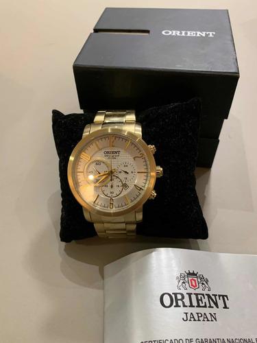 Relógio Orient Dourado  Com Cronógrafo