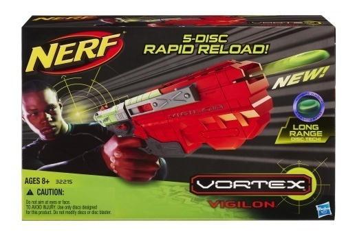 Nerf Pisotola Lanza Discos Vortex Vigilon-5 Original Hasbro
