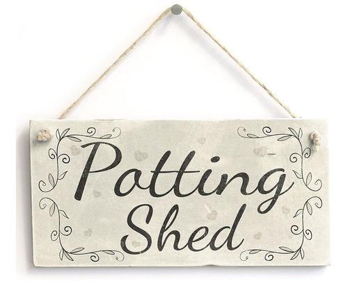 Imagen 1 de 2 de Potting Shed- Placa Decorativa Para Decoración De Campo, 10.