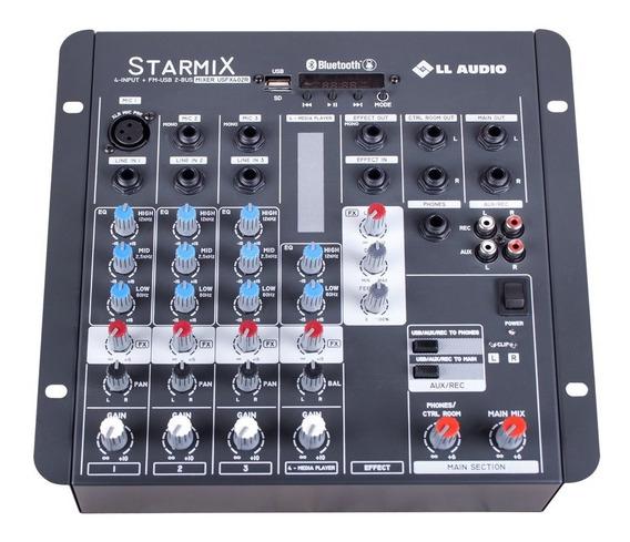 Mesa De Som Mixer Com Efeitos Usb Blue Gravador 4 Canais