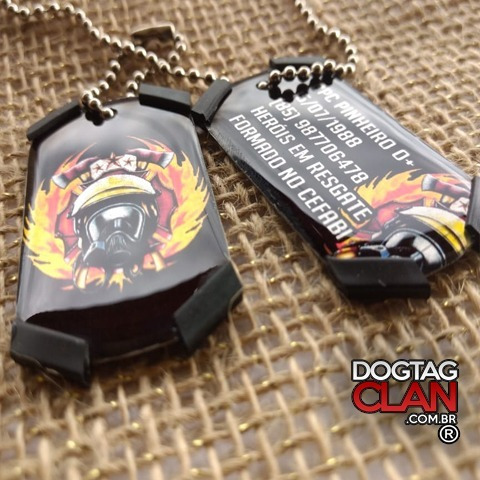 Dog Tag Bombeiro Placa De Identificação Personalizada