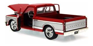 Chevy Cheyenne 1972 1:24 Jada Toys Vermelho