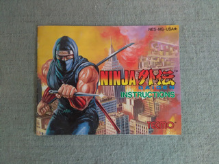 Manual Original Ninja Gaiden Nes