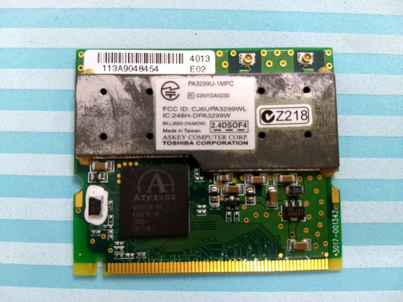 Placa Wireless Toshiba Pa3299u-1mpc Mini Pci Frete Incluso