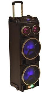 Parlante Portati Pcbox Floyd Sp210r + Potente Led + Microfono Inalambrico + 2 Entradas Plug