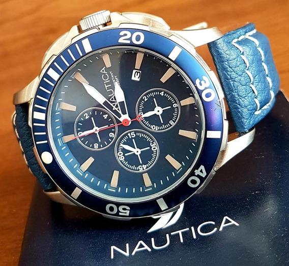 Relógio Nautica Cronômetro Lançamento A20110g Original.