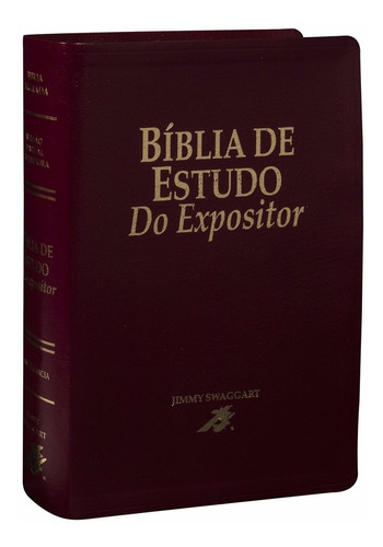 Imagem 1 de 5 de Bíblia De Estudo Do Expositor  Vinho Nobre + Caixa