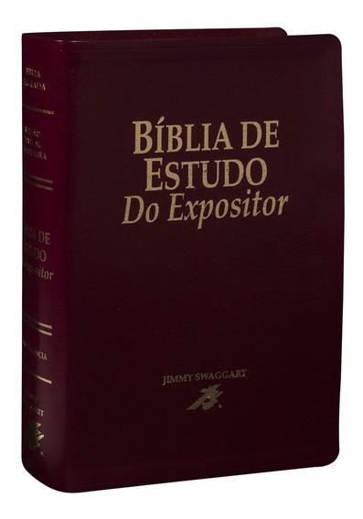 Bíblia De Estudo Do Expositor Vinho Nobre + Caixa