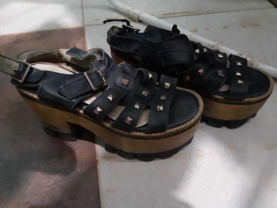 Zapatos De Mujer Con Plataforma Negros