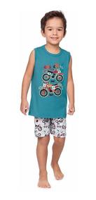 Pijama Infantil Regata E Bermuda Motocicleta - Malwee