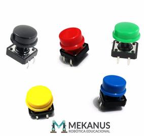 Kit 5 X Chave Táctil Push Button Botão 12x12x7.5 Mm Arduino