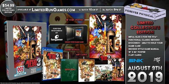 Metal Slug 3 Collectors Edition Limited Run Ps Vita