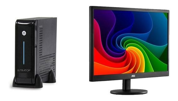 Computador Dual Corej3060 4g 500g+monitor Aoc E970swnl 18,5