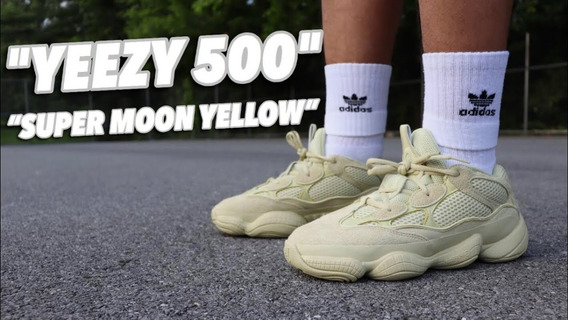 adidas Yeezy Boost 500 Super Moon Yellow Para Dama Y Caball