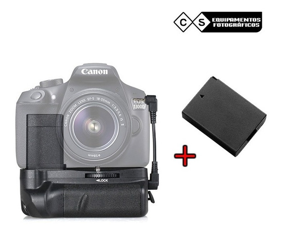 Battery Grip Para Canon T5, T6 + 2 Bateria Extra
