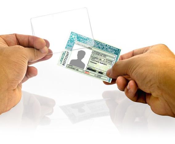 Proteção Cnh Documento Habilitação Acrilico - Kit 100 Pçs