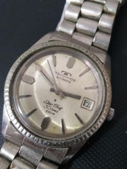 Relógio Technos Star Chief Automático Vintage 30 Jewels