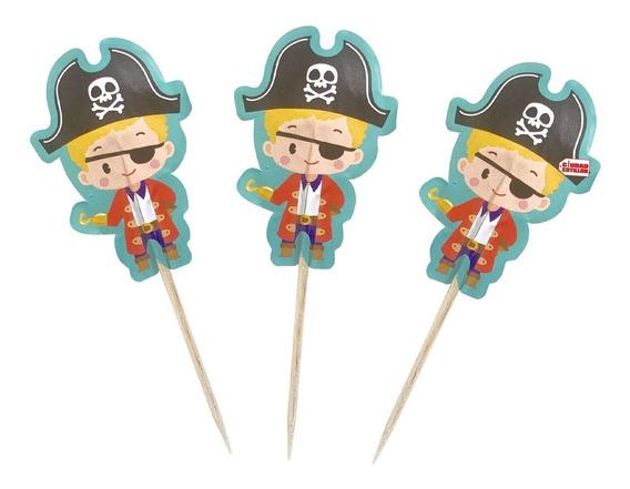 Pinche Piratas X 20 Cupcake Copetín - Ciudad Cotillón