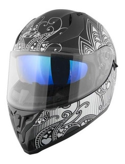 Casco Joe Rocket Rkt 14 Heartbreaker Negro Lente Iridio