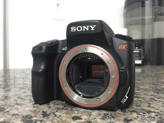 Câmera Fotográfica Profissíonal Dslr Sony A200 Usada