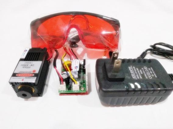 Modulo Laser 3500mw ( 3.5w ) 445-450nm 12v Ttl Cnc Engraver