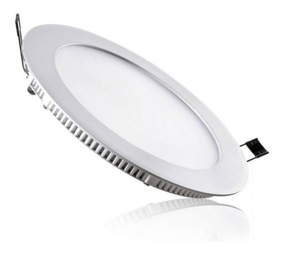 Painel Plafon 18w Luminaria Led Slim Redondo Lampada Embutir