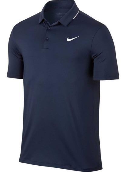 Camisa Polo Nike Golf Dry-fit Azul Marinho M - 833071-410