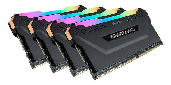 Memoria Ram 64gb Corsair Vengeance Rgb Pro (4x16gb) Ddr4 3600mhz (pc4-28800) C18 Black (cmw64gx4m4k3600c18)