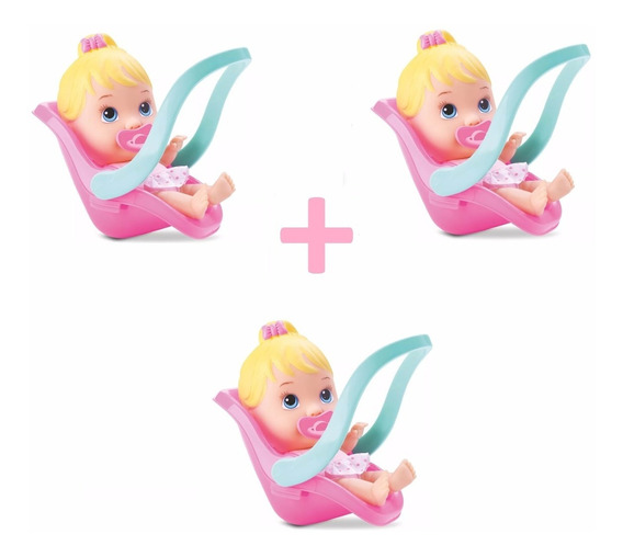 Kit 3 Boneca Little Dolls Conforto Alive Baby Divertoys