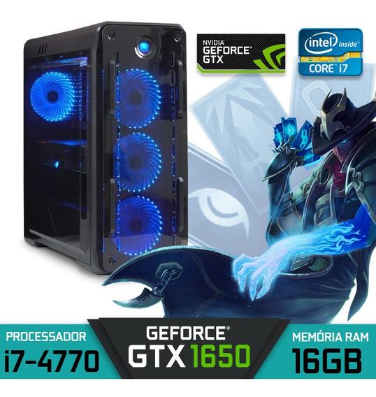 Computador Gamer Intel Core I7-4770 Ram 16gb Hd 1tb Gtx 1650