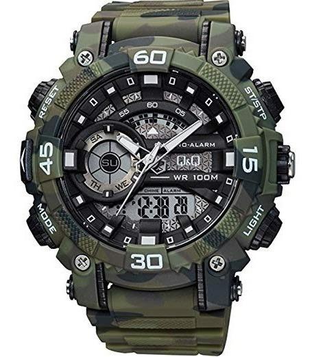 Reloj Q&q Gw87j005y By Citizen Militar Camuflados Original