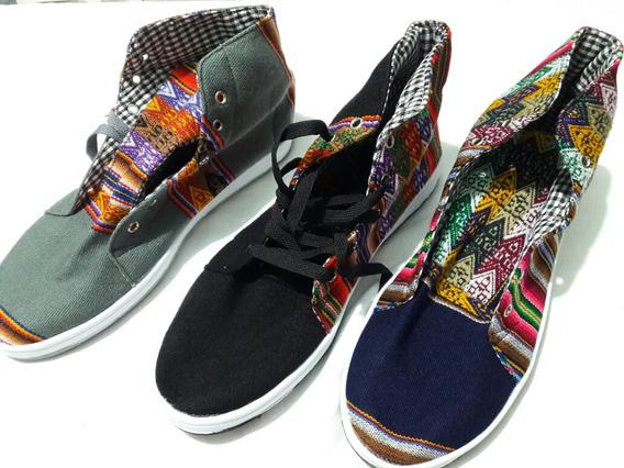 Zapatillas De Aguayo Tipo Botitas (número 34 Al 43).