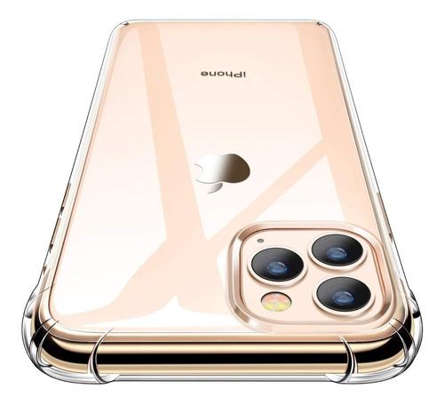 Forro Silicon Transparente Vidrio Templado iPhone 11 Pro Max