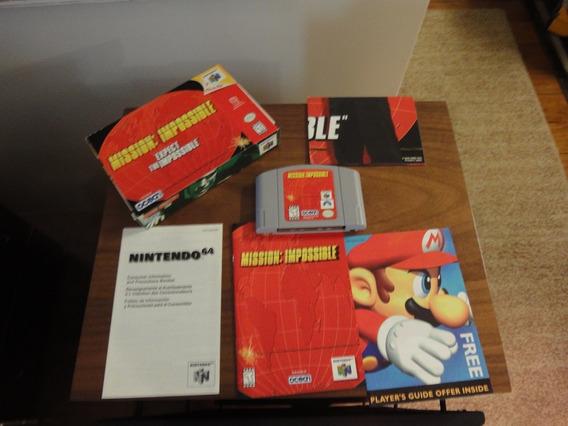 Cartucho Nintendo 64 Missão Impossível Com Caixa E Manuais